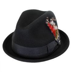 26a7f400db4 Brixton Hats Gain Wool Felt Fedora Hat Stingy Brim   Trilby Man Hats