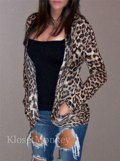 Leopard open cardigan  SOLD OUT!