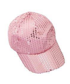 ecd5787729302 Sequin Adjustable Super Cool Sport Outdoor Cloth Baseball Cap (Pink)  CB12DAFPN3V