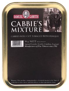 Samuel Gawith's Cabbie's Mixture is the first coin-cut tobacco from the venerable English blending house. It's an all-day blend with a bit more body than most, as well as a subtly sweet, subtly spicy flavor that makes the smoker aware of the Perique's influence, without being overwhelming or heavy-handed.