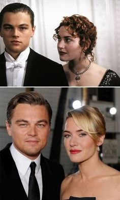 Kate Winslet and Leonardo DiCaprio, seriously why are they not together?! @Elizabeth Cronin see, here's an example of old Leo < young Leo