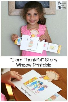 Thanksgiving Printable: Things I Am Thankful for Story Window