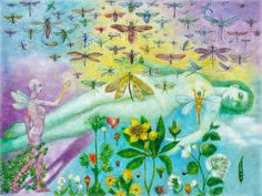 Garden of the Myriad Things oil on large canvas, 2008 © dennis potokar Share this on Pinterest, but please don't reproduce in any other way, nor part of, without my knowledge, as all rights are reserved, Thanks