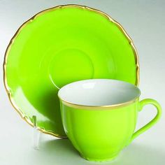 Colours - Bright Green, Anna Weatherly, cup and saucer