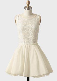 Sunflower Ballet Crochet Detail Dress In Cream at #Ruche @Ruche