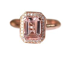 Rlovehome Emerald Cut 6x8mm Pink Natural VS Morganite Diamonds Promise Ring Engagement Ring Wedding Ring Anniversary Ring in Solid 14k Rose Gold (J) Rlovehome http://www.amazon.co.uk/dp/B01AHXGIMI/ref=cm_sw_r_pi_dp_sy77wb1NXP57G