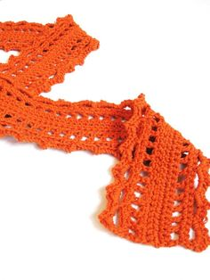 scarf pattern - The Baruch's Lullaby crochet lace scarf PDF digital file