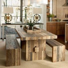 HGTV Green House - West Elm Table & Benches