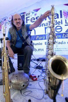 Nezahualcóyotl, Méx. 28 Junio 2013. Jazz con German Bringa, desde la Explanada Municipal de Neza.