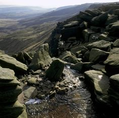 Kinder downfall with the Western slopes of Kinder Scout beyond in the Peak District National Park, Derbyshire. National Trust, National Parks, Places In England, Little Island, Peak District, Derbyshire, Before Us, Outdoor Photography, Lonely Planet