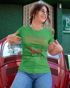 10 Reasons To Love Dachshund Best Dog - Irish Green dachshund humor, dapple dachshund puppy, dachshund training #dachshundproblems #dachshundsappreciation #dachshundsofbrazil, dried orange slices, yule decorations, scandinavian christmas Manado, Great T Shirts, T Shirts For Women, Fat Cats, Quality T Shirts, Couture, Dog Shirt, Pet Store