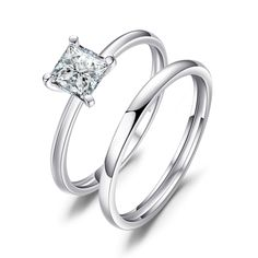 dd4c0994f1b JewelryPalace Princess Cut Cubic Zirconia Wedding Band Solitaire Engagement  Ring Bridal Sets 925 Sterling Silver     Do hope you do love the image.