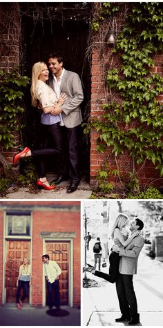Engagement Photos: Sarah and Rupert's Ann Arbor Engagement PhotosTheKnot.com -