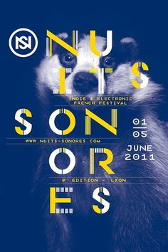 #poster #affiche Nuits Sonores 2011