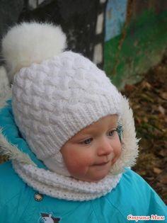 """Шапочка """"Плетенка"""" для моей девочки"""