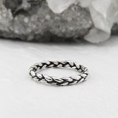 NIN Tiny Silver Braid Ring Postmedia's Gift Guide
