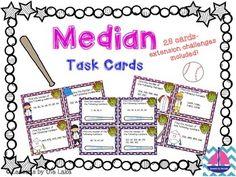 Median Task Cards (Data Landmarks)