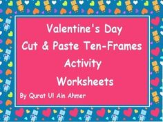 Valentine's Day Themed Cut and Paste 10 Frames Activity Worksheets.10 worksheets for 10 frames.Valentine's Day Themed Cut and Paste 10 Frames Activity Worksheets. by Qurat Ul Ain Ahmer is licensed under a Creative Commons Attribution 4.0 International License.