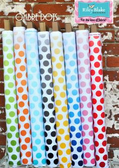 Hawthorne Threads Fabric Bundle, Ombre Dots