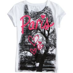 polyvore eiffel tee | from shopjustice com love paris graphic tee peace love justice $ 18 ...