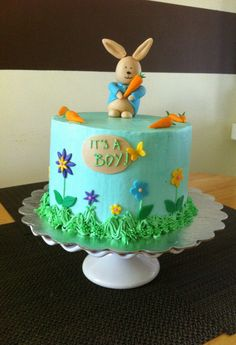 Peter Rabbit Baby Shower Cake