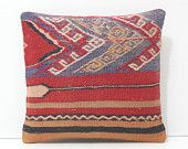 red pillow ethnic cushion boho pillow couch pillow case easter pillow western throw pillow cover floor pillow purple kilim pillow sham 17255