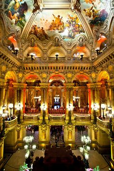 A night at the opera by KP!!!, via Flickr.  Palais Garnier - Paris