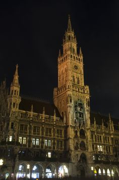 Part of Munich City Hall by night by Laurent Delmas on 500px