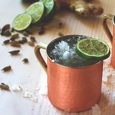 Kentucky Mule Recipe:     - 1.5 oz Buffalo Trace Bourbon  - 4 oz ginger beer  - .5 oz lime juice  - lime wedge     Try this manly twist on an old Russian favorite, the Moscow mule.