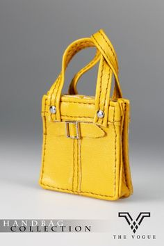 HB2003-06 The Vogue Yellow Leather Designer Hobo Handbag