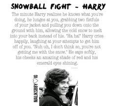 Harry Styles Imagine Snowball fight :-)