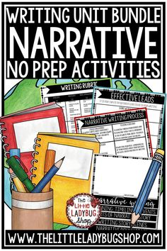 Grow your students with this Personal Narrative Writing Unit! You will love this Narrative Writing Unit that is perfect for Third Grade, Fourth Grade, and More! #personalnarrative #personalnarrative #narrativewriting #writingunit #writersworkshop #writingnotebook #writing4thgrade #writing3rdgrade