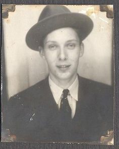 Vintage Photo Man w Hat in Photobooth 112013 | eBay