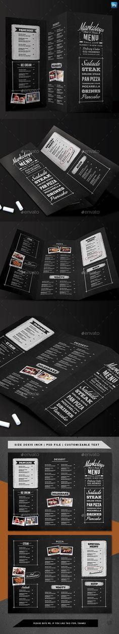 Trifold Typography Blackboard Menu