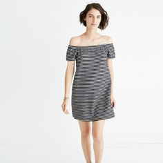 Striped Melody Off-the-Shoulder Dress