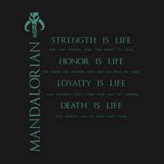 Awesome 'The+Mandalorian+Code' design on TeePublic!