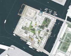 BYENS Ø | TREDJE NATUR Public Architecture, Landscape Architecture Design, Landscape Plans, Concept Architecture, Urban Landscape, Climate Adaptation, Urban Concept, Urban Design Plan, Site Plans