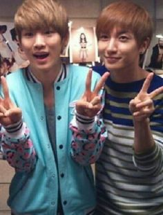Key from SHINee and Leeteuk from Super Junior. Come visit kpopcity.net for the largest discount fashion store in the world!!