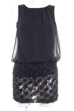 d128695148e ESPRIT Kurzarmkleid schwarz Elegant Damen Gr. DE 36 Kleid Dress  fashion   kleidung