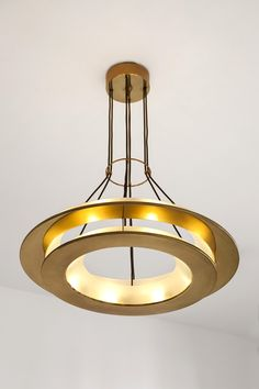 2295 Ceiling lamp 1957 Satin finish glass screens, niello treated brass fitting Produced by Fontana Arte Custom Lighting, Home Lighting, Lighting Design, Led Ceiling, Ceiling Fixtures, Light Fixtures, Crystal Lights, Pendant Lamp, Pendant Lighting