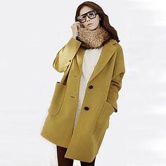 Women's Loose Long Tweed Coat(More Colors)