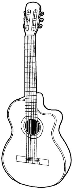 How to draw a guitar with easy step by step drawing tutorial