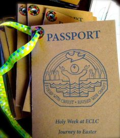 Passport to Holy Week. Great ideas for engaging kids and families from Palm Sunday all the way through to Easter.