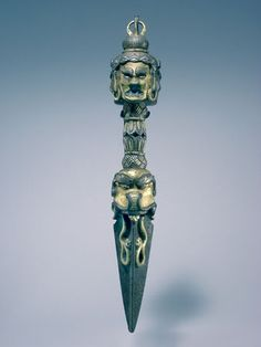 Tibetan Purba (Ritual Dagger)  Gold & Silver over Iron  15th - 16th Century