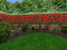Garden Privacy Screen of Rose Hedge Flower Border Trees hi res tall with 4 sizes included Copy Mod Virtual World, Virtual Reality, Rose Hedge, Garden Privacy Screen, Backyard Landscaping, Landscaping Ideas, Second Life, Hedges, Garden Design
