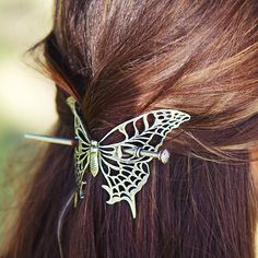 Oberon Design Britannia Metal Hair Stick: Butterfly. http://www.oberondesign.com/collections/hair-clips-accessories