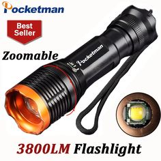 82.80$  Watch here - http://ali75f.worldwells.pw/go.php?t=32728234044 - T6 3800Lumens Led Flashlight Torch Zoomable Tactical Flashlight 18650 lampe torche linternas Zaklamp Taschenlampe Torcia ZK93 82.80$