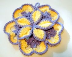 crochet  I love these and make them all the time and give as gifts. they are so easy to make!