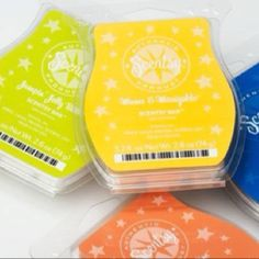 Scentsy scent bars. So many to choose from. Try them all.  :)