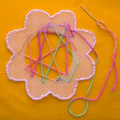 Sewing Flowers -  Pinned by @PediaStaff – Please Visit http://ht.ly/63sNt for all our pediatric therapy pins